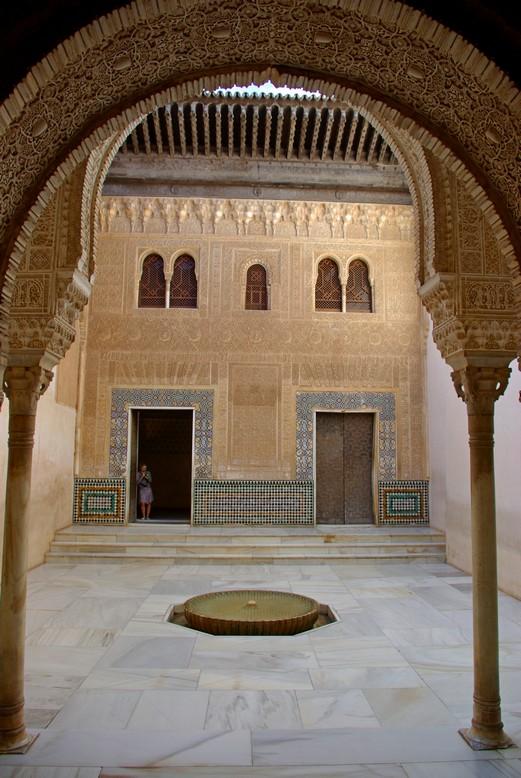 Wnętrze pałacu, Alhambra, Granada