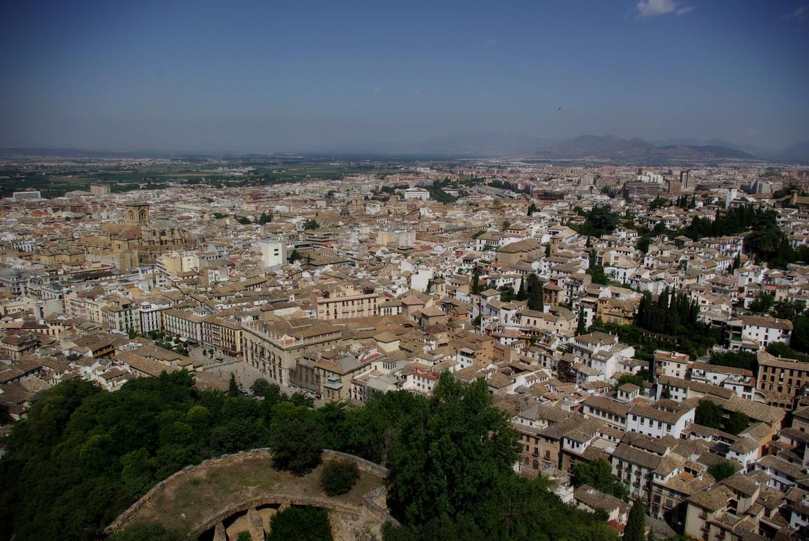 Widok z pałacu, Alhambra, Granada