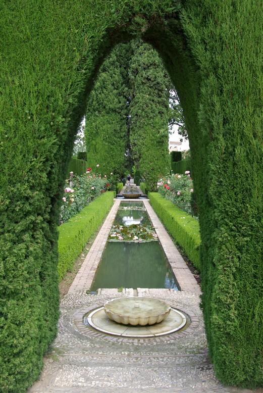 Ogrody Generalife, Alhambra, Granada