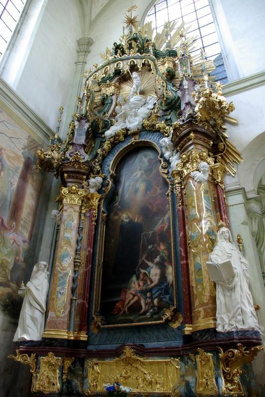 ołtarz boczny, Klasztor Kladruby, Czechy