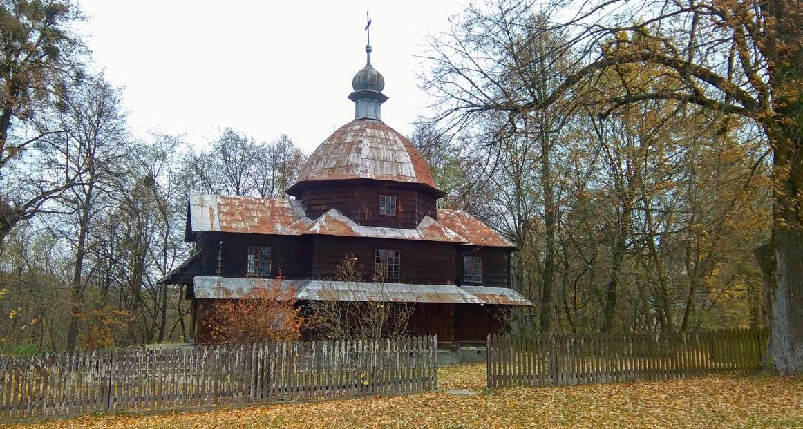 Kościół Marii Śnieżnej, druga drewniana świątynia w wiosce, Radruż