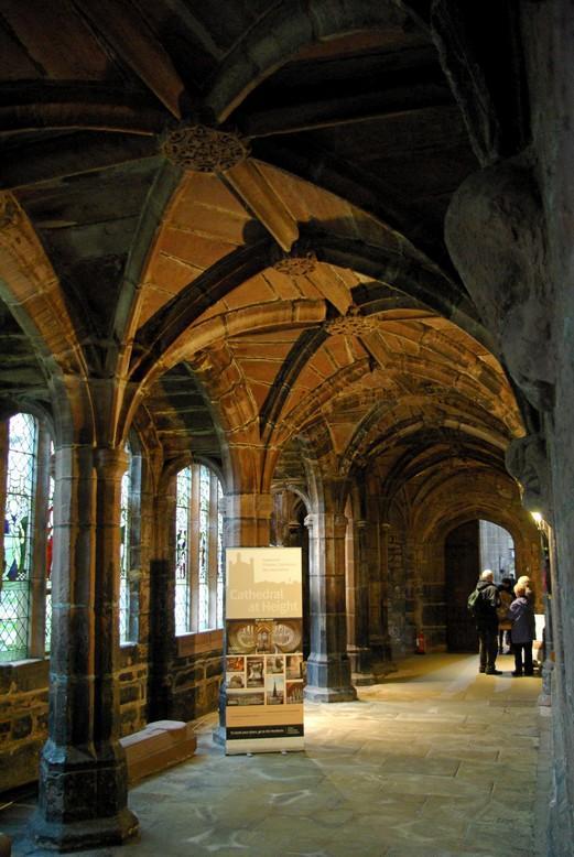 Krużganki, katedra w Chester