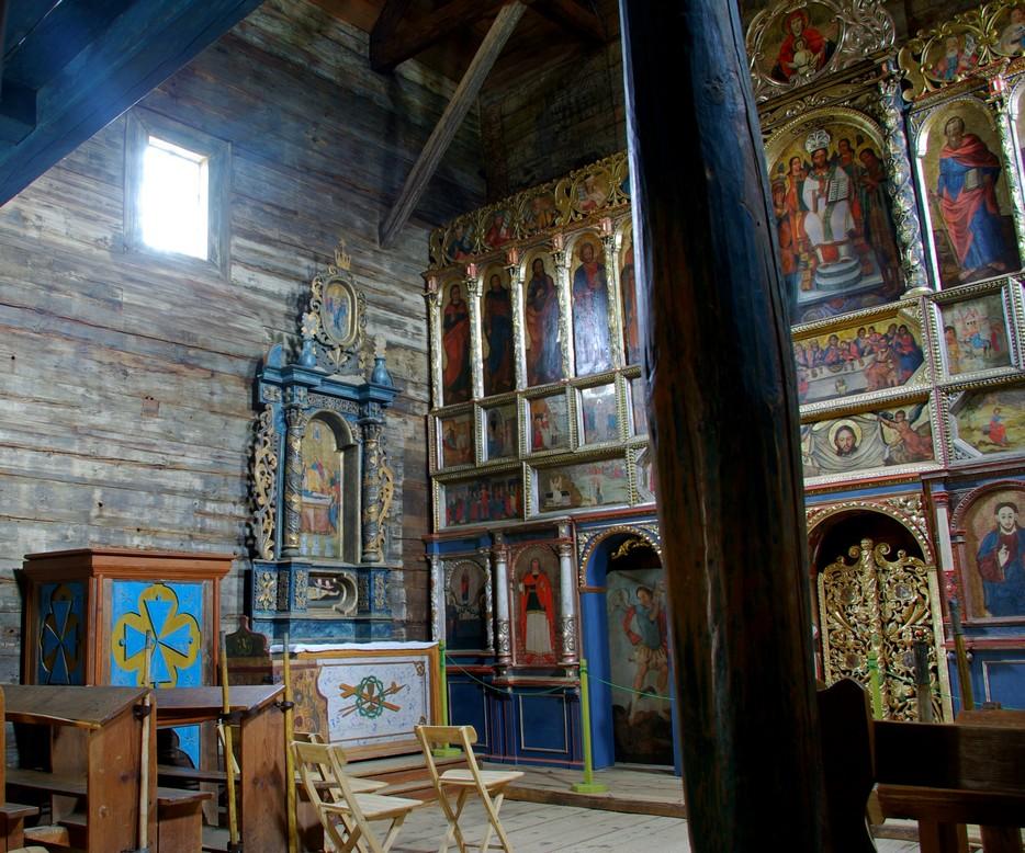 Wnętrze cerkwi, Radruż