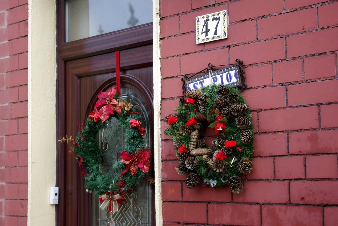 Ozdoby świąteczne na drzwiach, Dublin