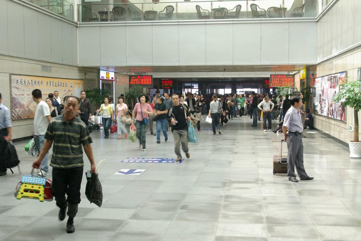 Korytarz na dworcu w Hangzhou